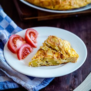 tortilla espanola on a plate