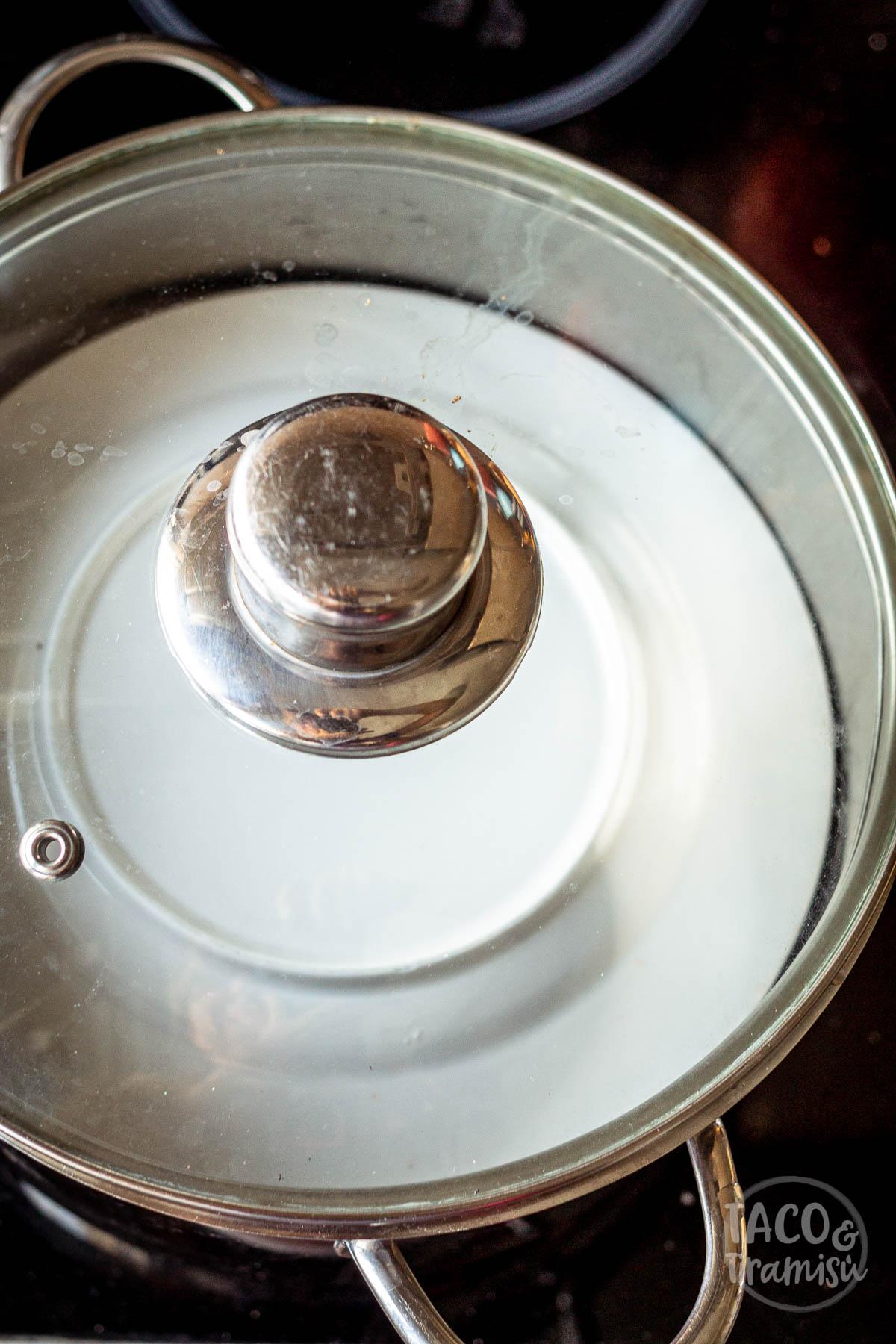 cooking sarmi in a large pot