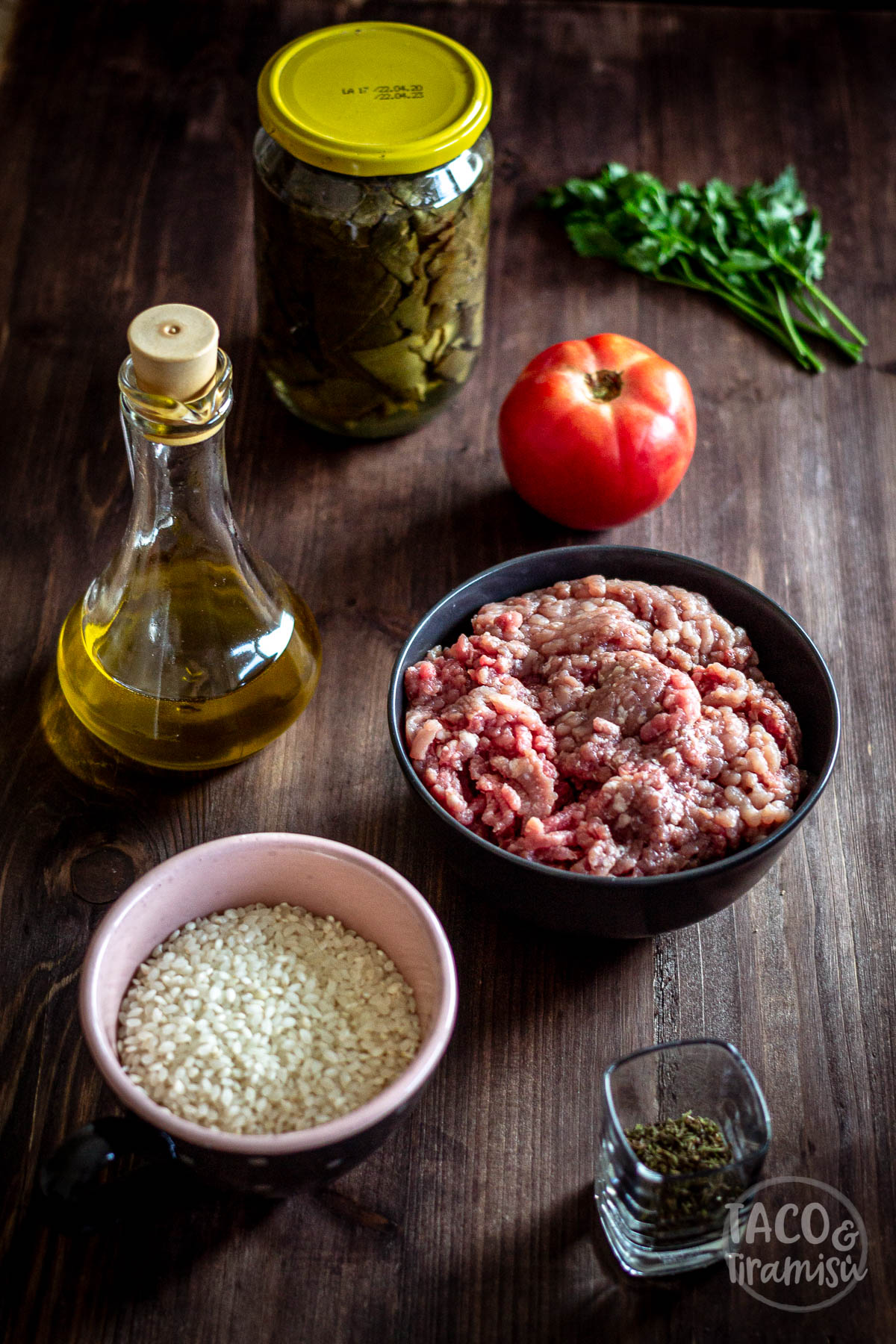 ingredients for stuffed grape leaves