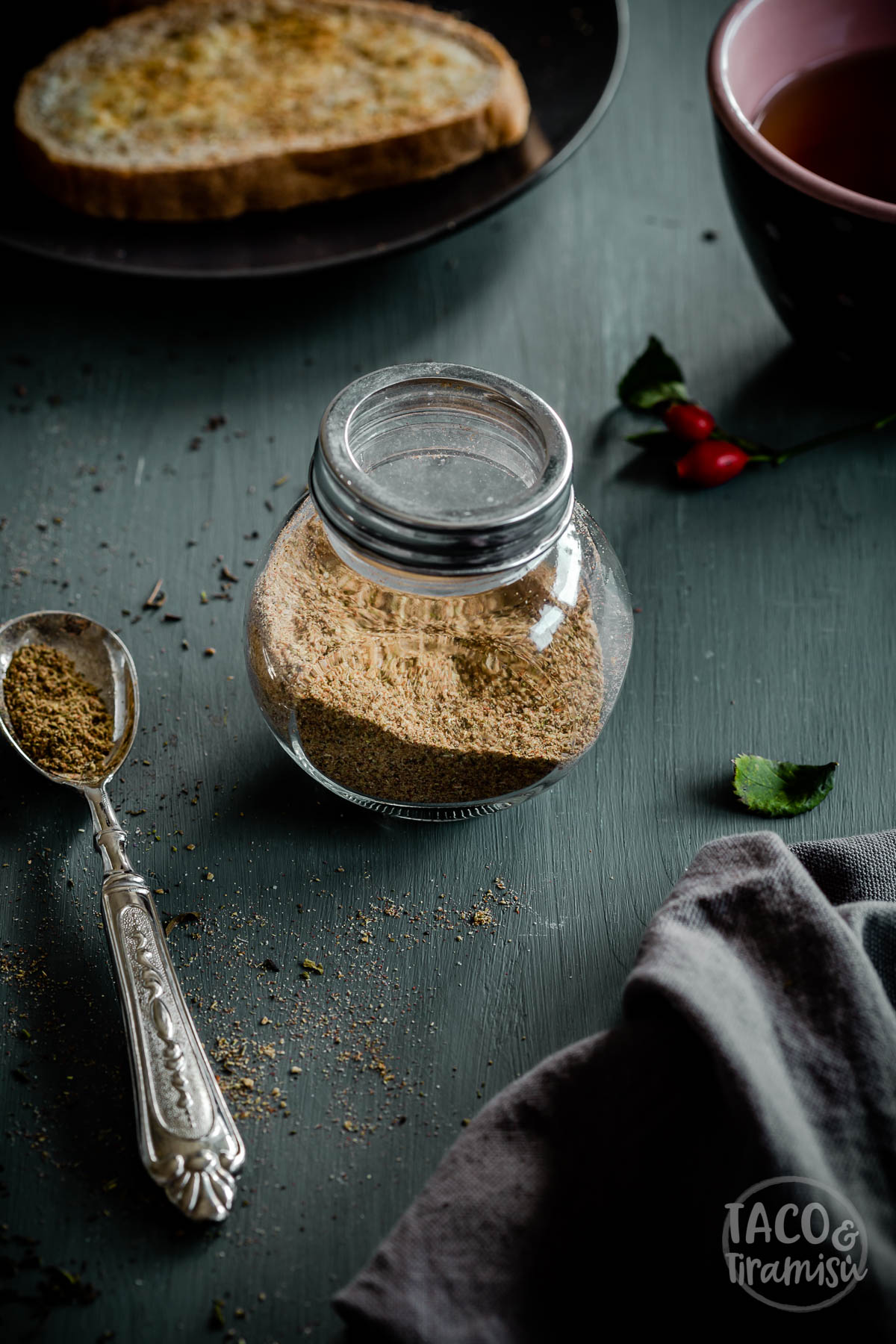 sharena sol in a jar on a wooden background