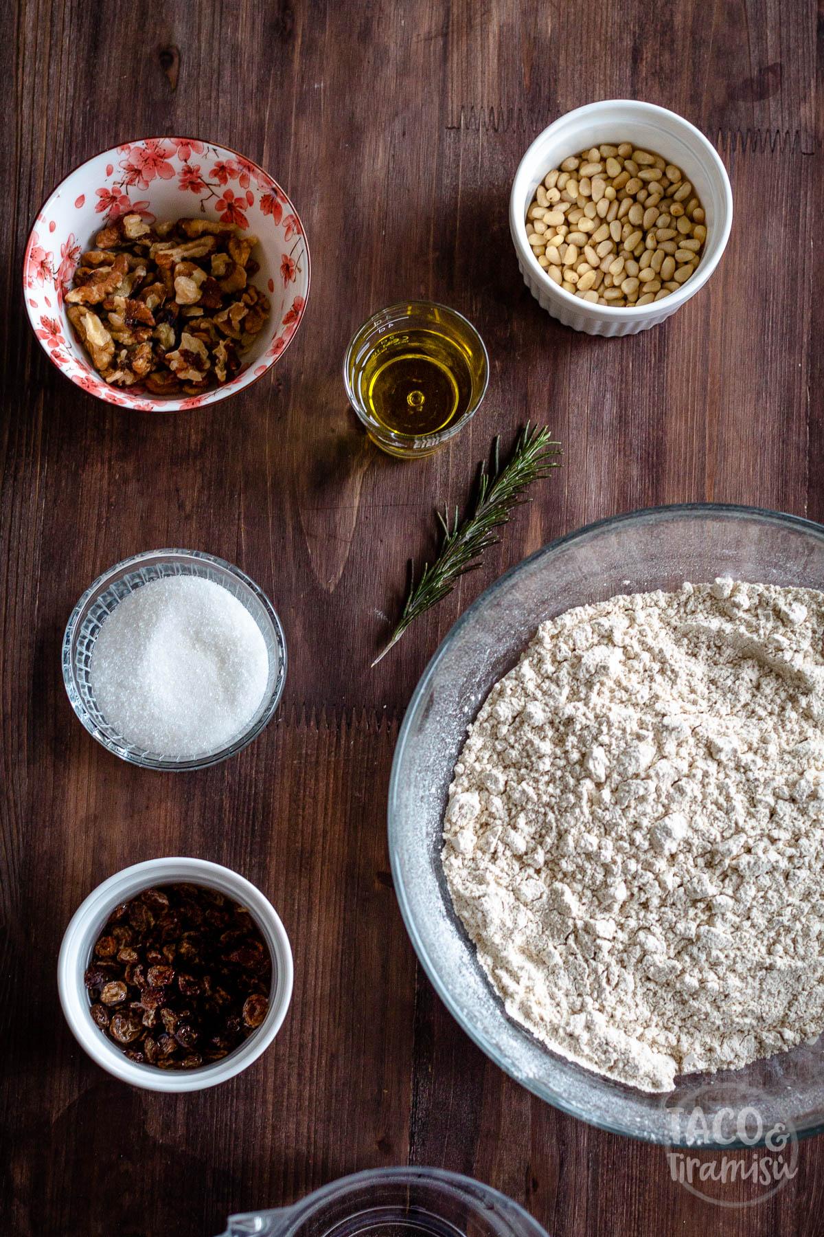 ingredients for castagnaccio