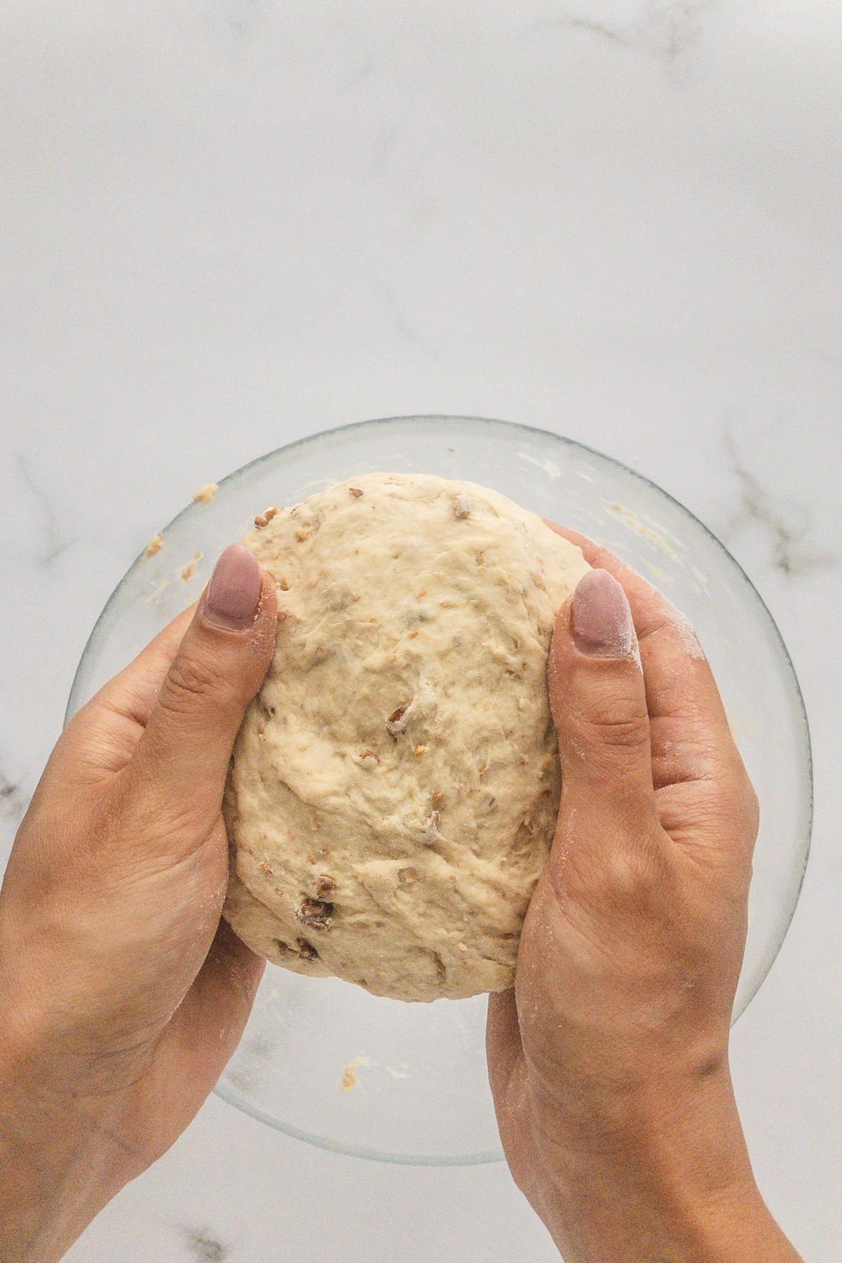 making a ball of the dough