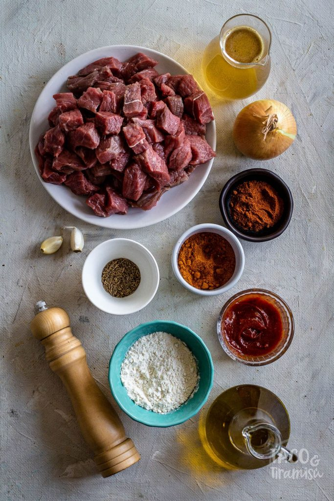 ingredients for the recipe